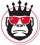 Monkey with a crown and sunglasses